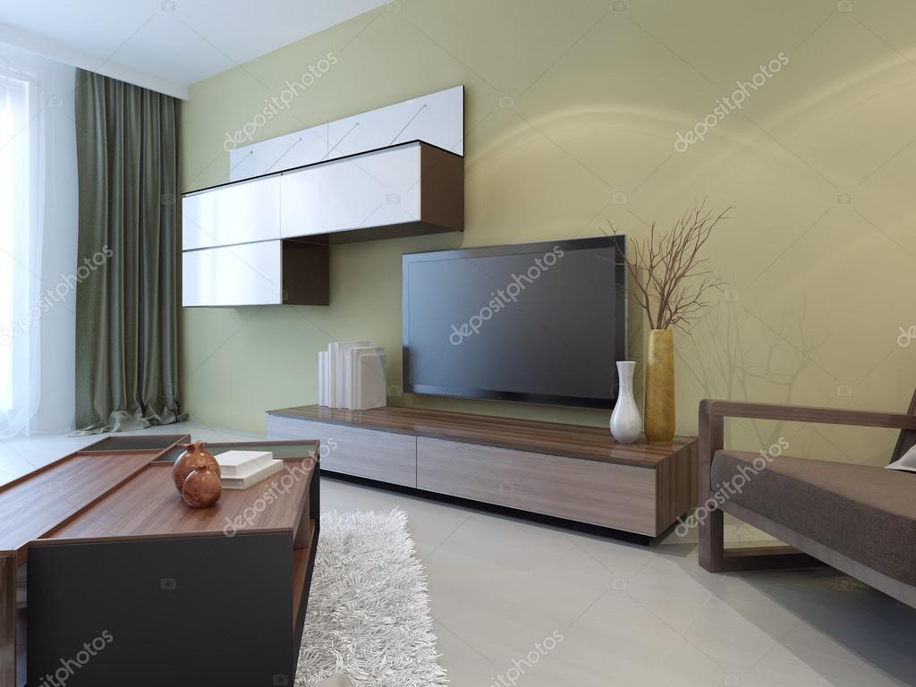 Moderne wandsysteem in lounge kamer interieur u2014 stockfoto © kuprin33