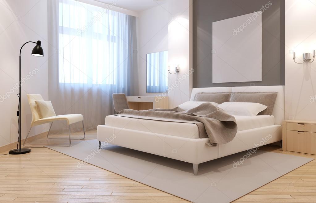 Interno camera da letto elegante avangard — Foto Stock © kuprin33 ...