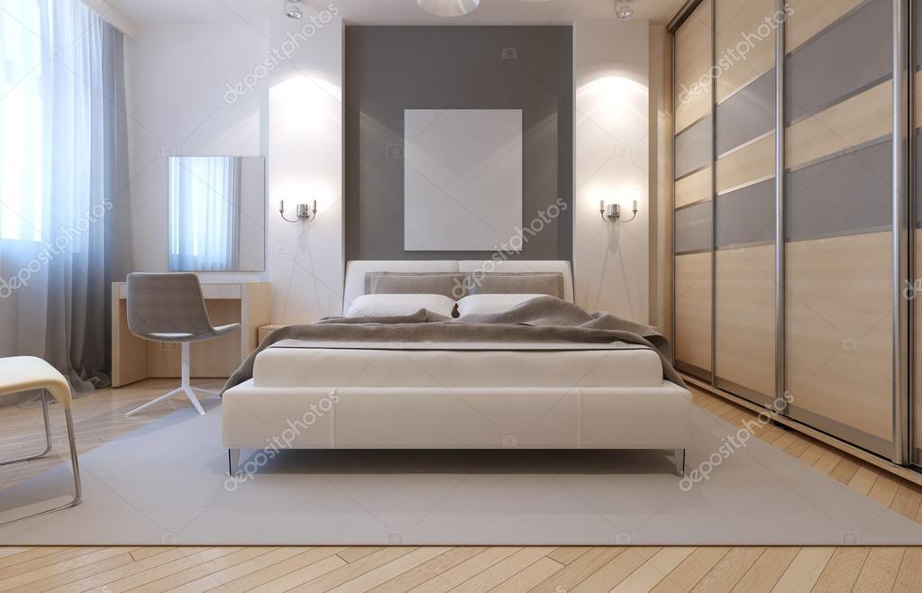 Master slaapkamer avangard ontwerp — Stockfoto © kuprin33 #83427092