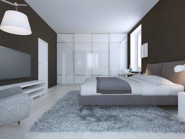 Spacious bedroom minimalist style