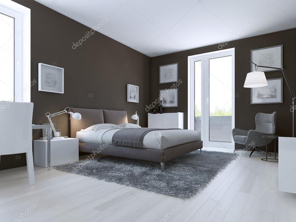 Modern hálószoba design — Stock Fotó © kuprin33 #83430772