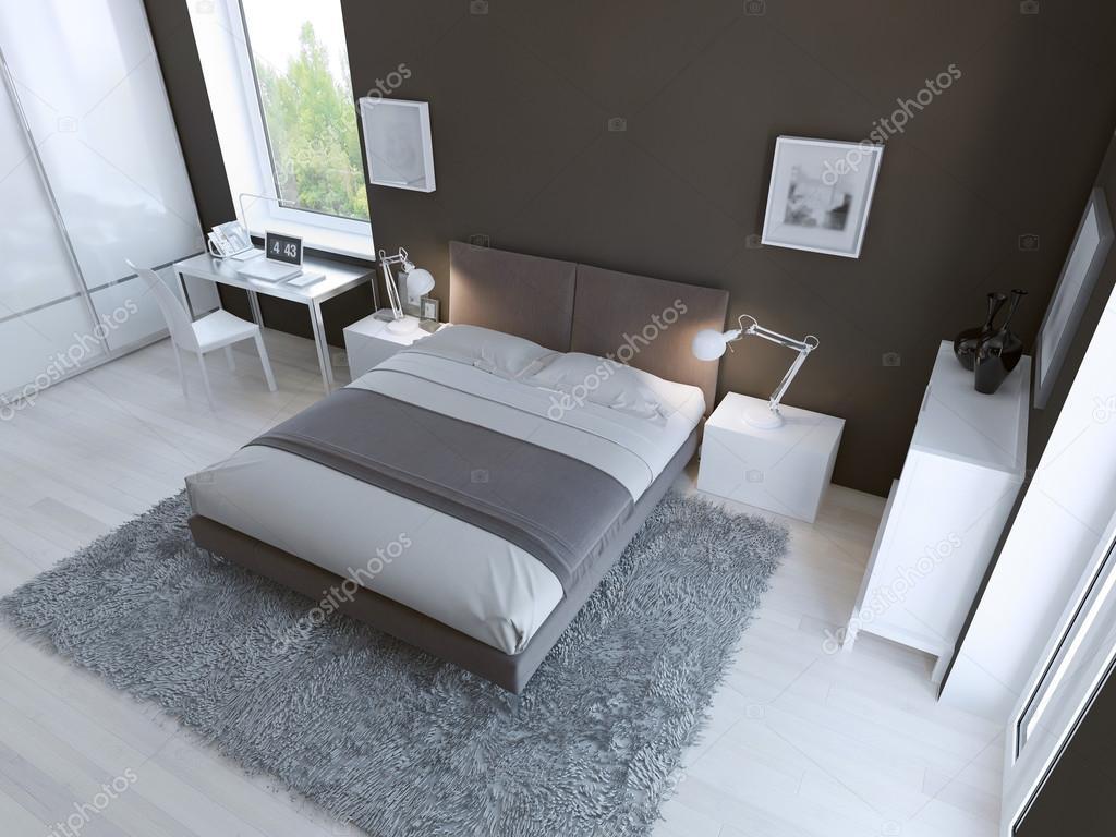 Camera Da Letto Grigio Chiaro : Interno camera da letto di alta tecnologia u foto stock kuprin