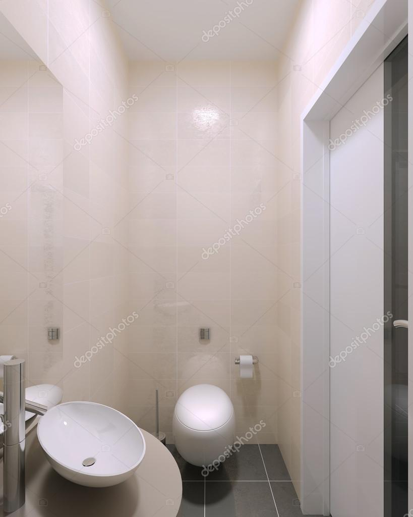 Small Wc Contemporary Interior Stock Photo 83430962