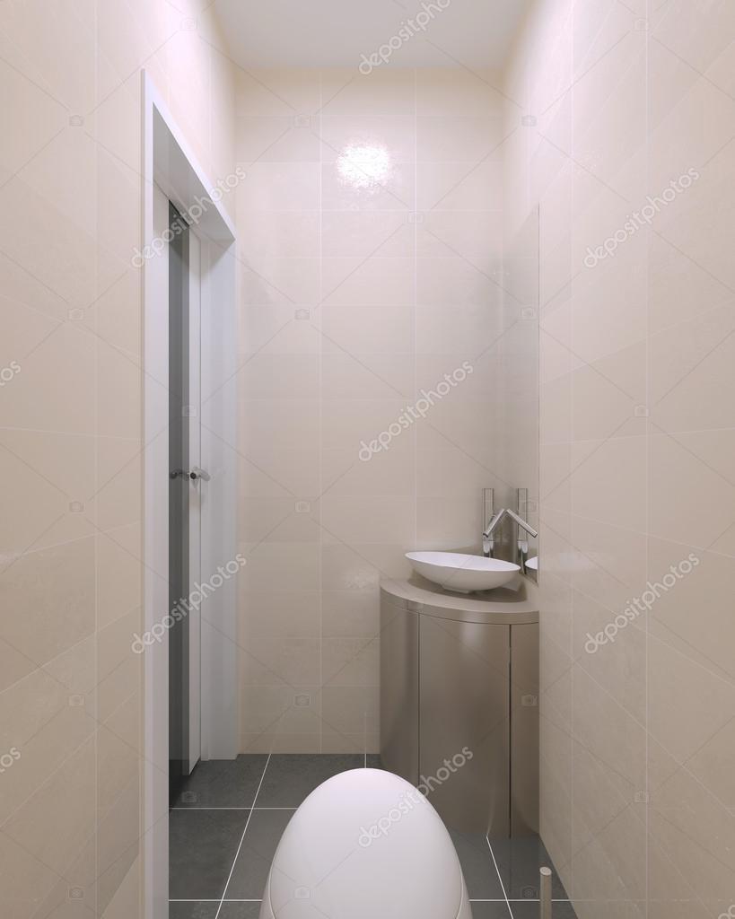 Modern wc with papaya whip walls — Stock Photo © kuprin33 #83430964