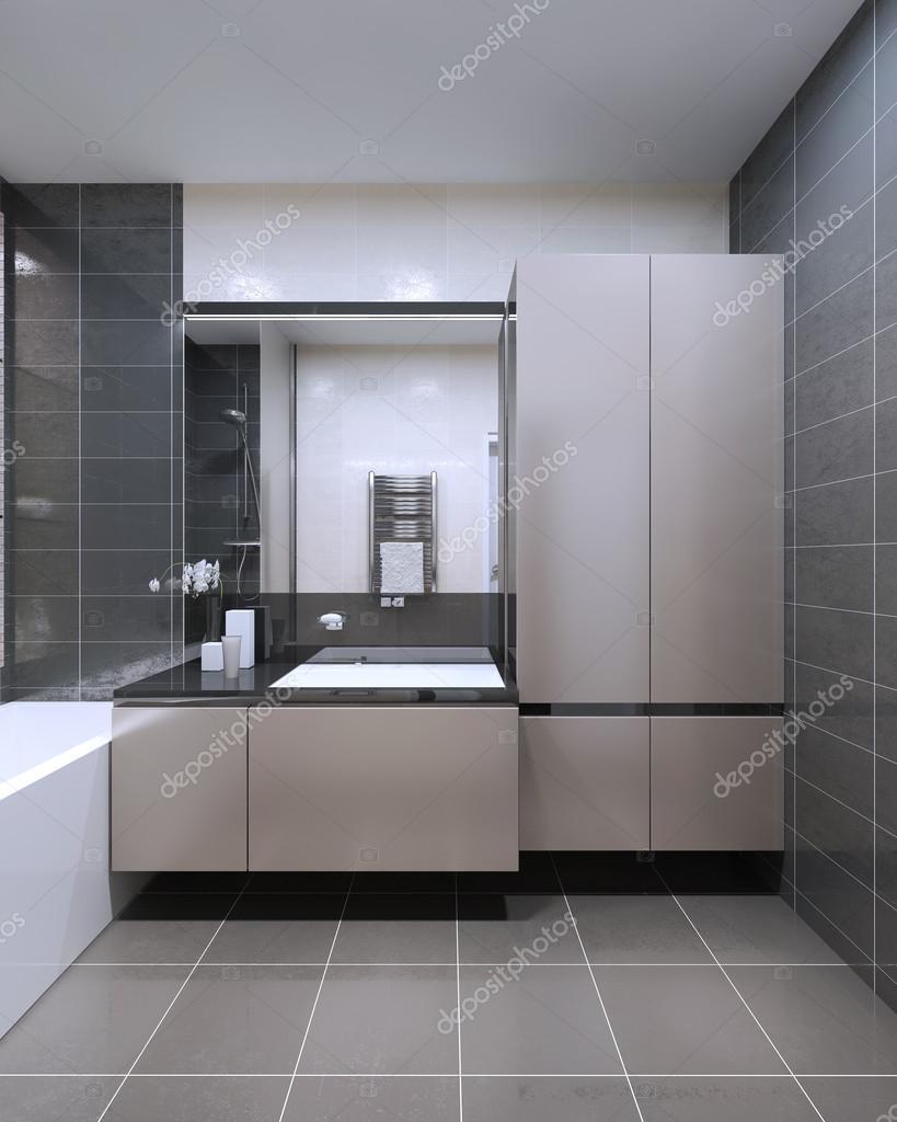 El diseño único del cuarto de baño — Foto de Stock #83431018 ...