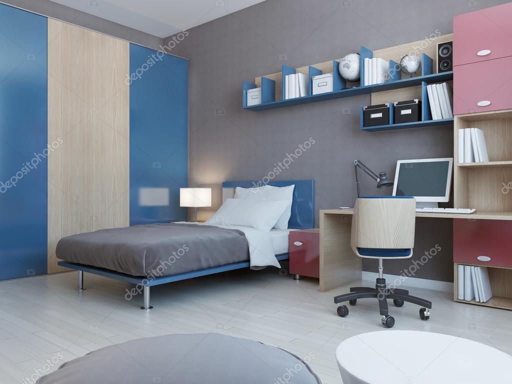 weergave van tieners slaapkamer stockfoto