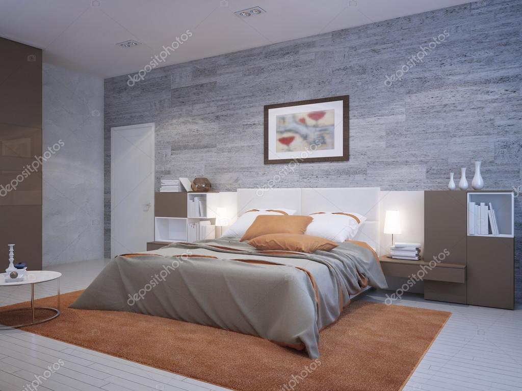 Stile art déco di camera da letto arancione — Foto Stock © kuprin33 ...