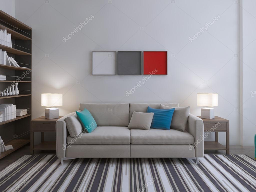 Moderne lounge kamer idee u stockfoto kuprin