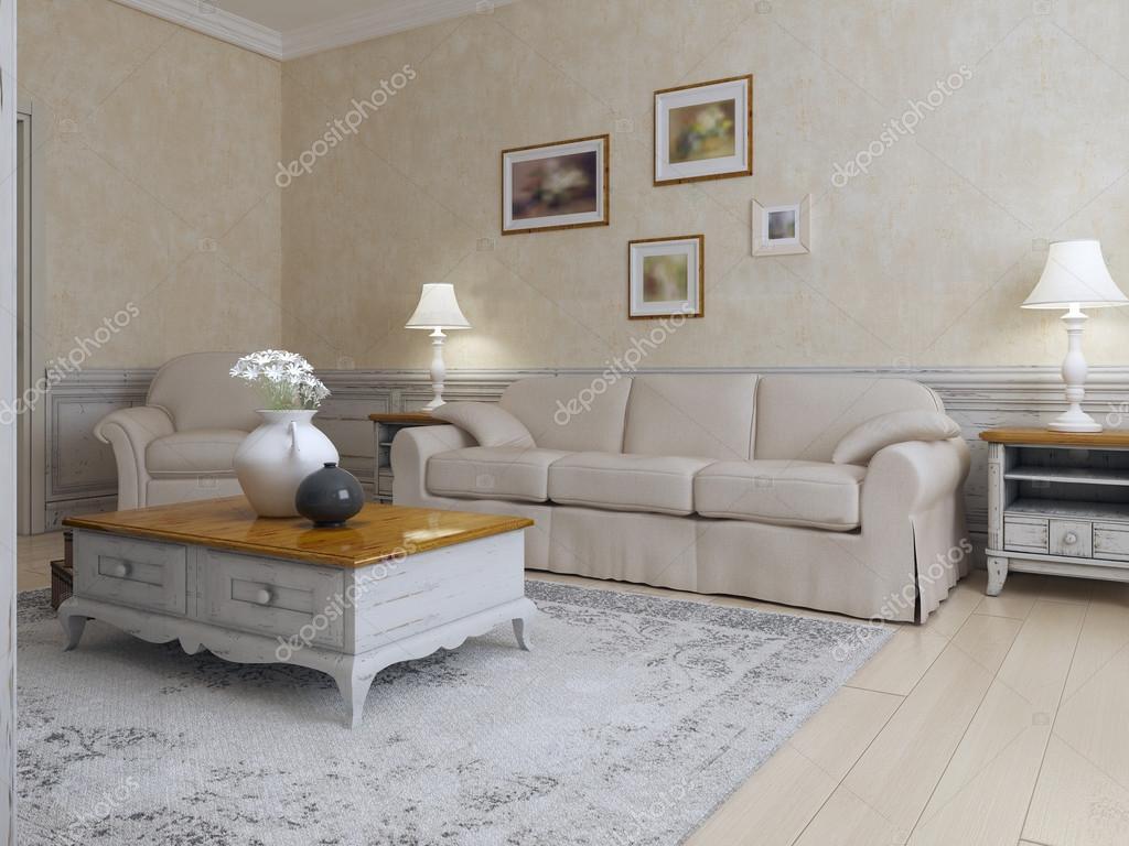 Mediterranen Stil Wohnzimmer Stockfoto C Kuprin33 87649094