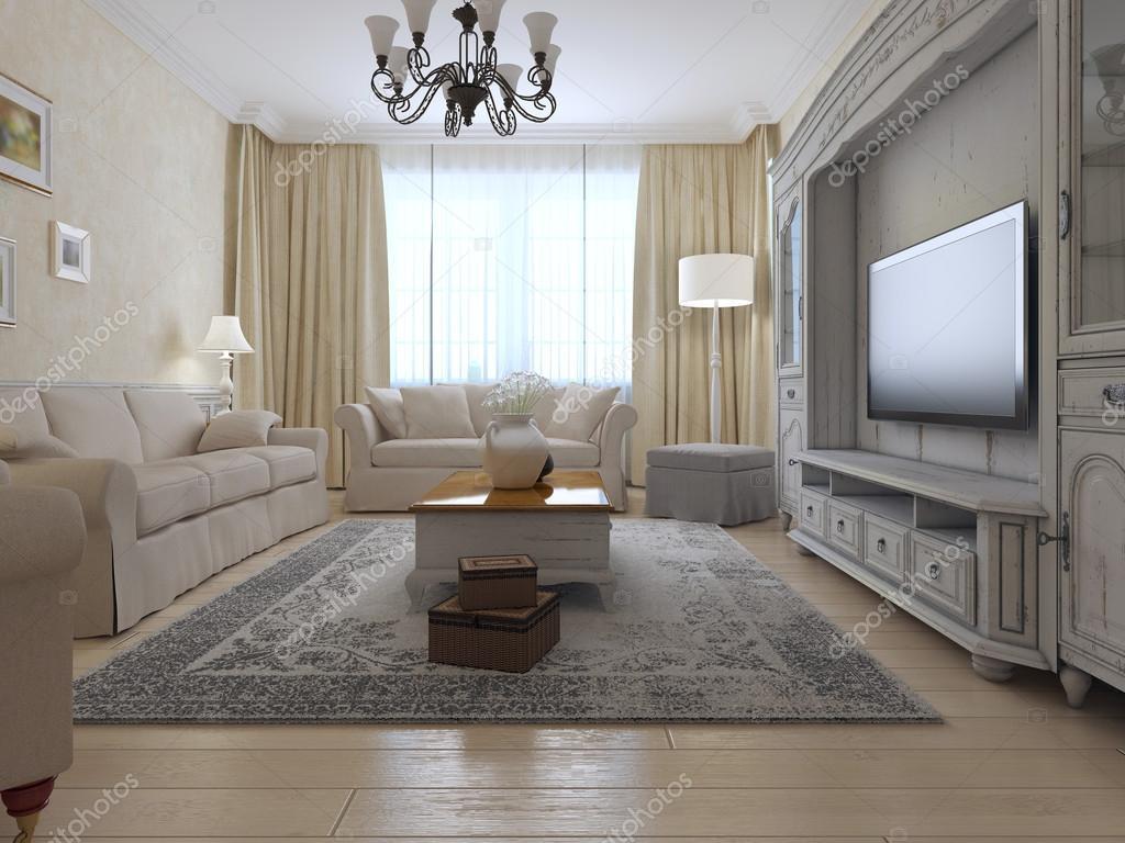 Woonkamer landelijke stijl — Stockfoto © kuprin33 #87649126