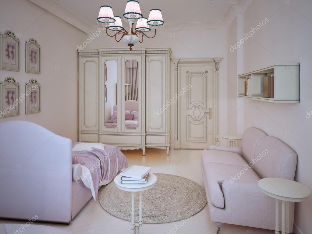 Camera da letto ragazza adolescente classico — Foto Stock © kuprin33 ...