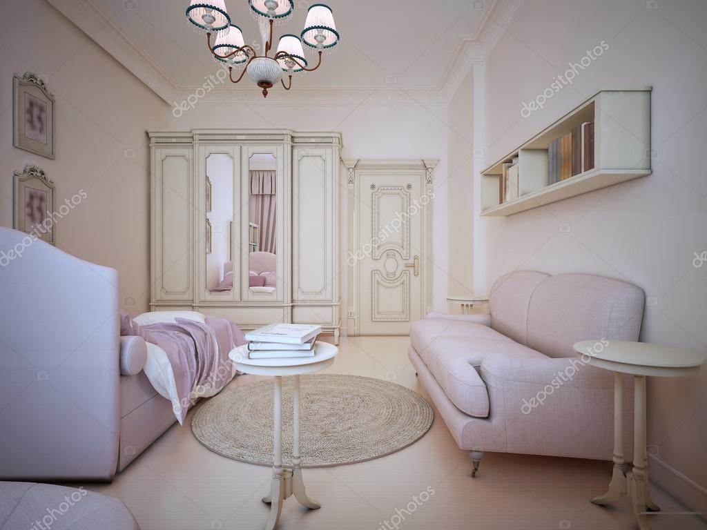 Gestaltung von shabby-Chic-Schlafzimmer — Stockfoto © kuprin33 #87649390