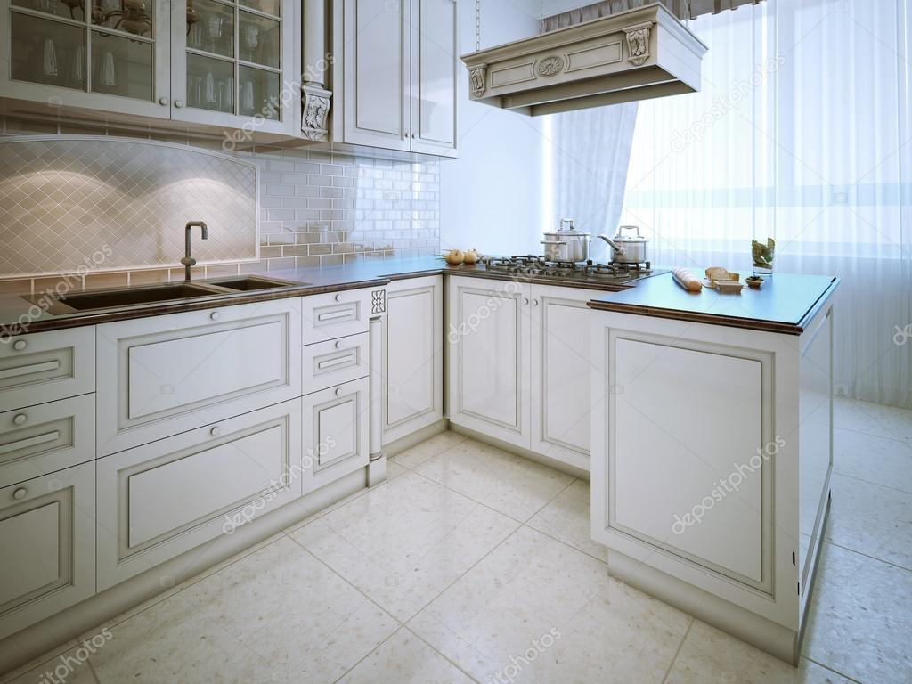 Elegante cucina in stile classico u foto stock kuprin