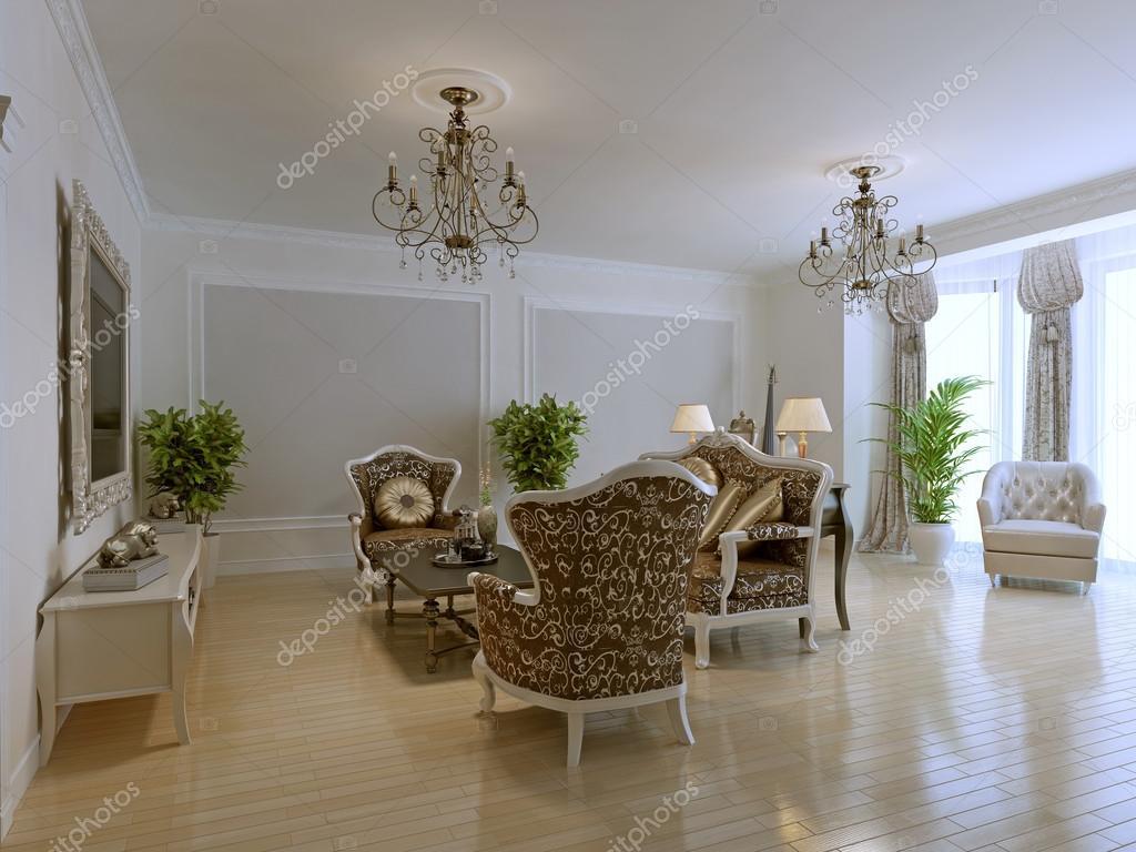 Luxus-Interieur des reichen lounge — Stockfoto © kuprin33 #87649856