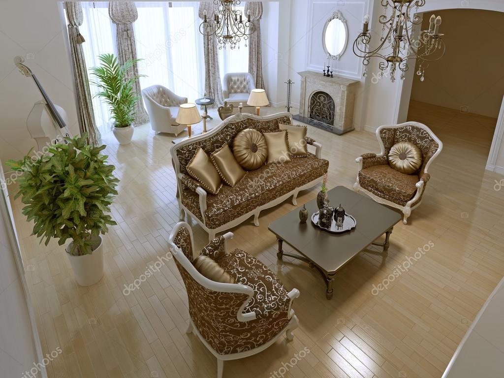 Art deco design ideas | Idea of art deco living room — Stock ...