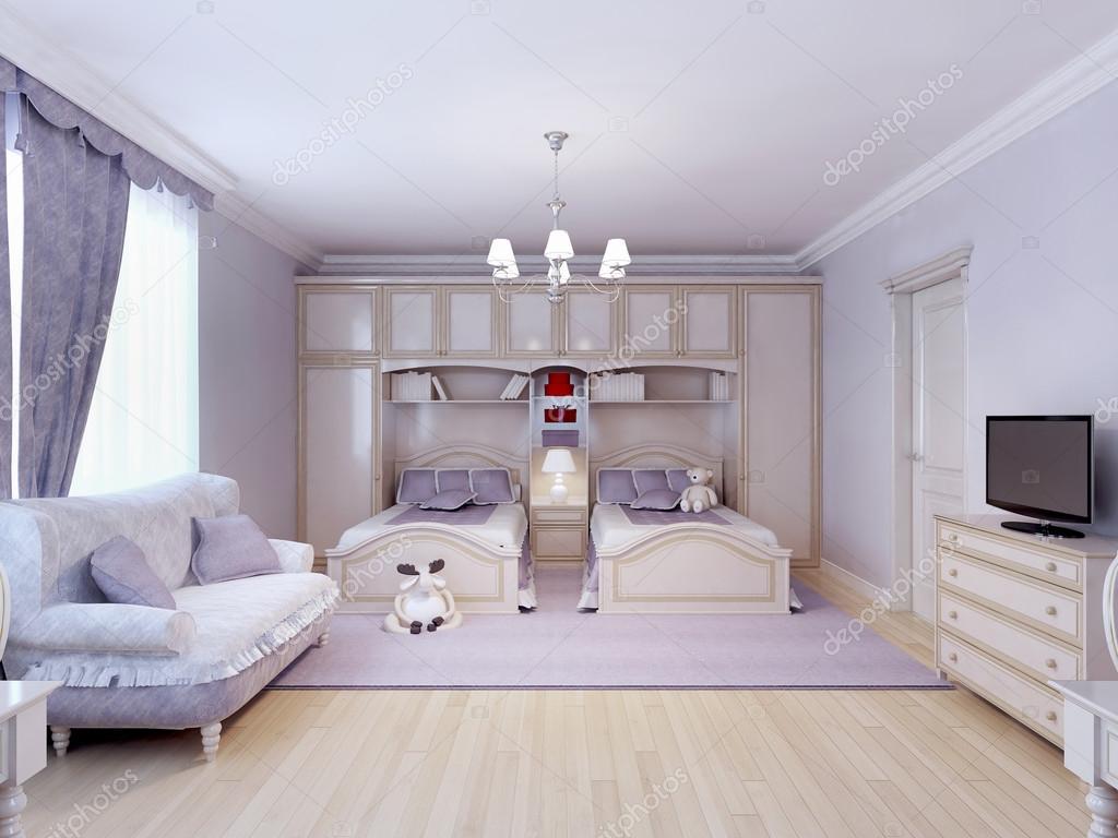 Camera Da Letto Da Bambino : Bambino camera da letto per due persone u foto stock kuprin