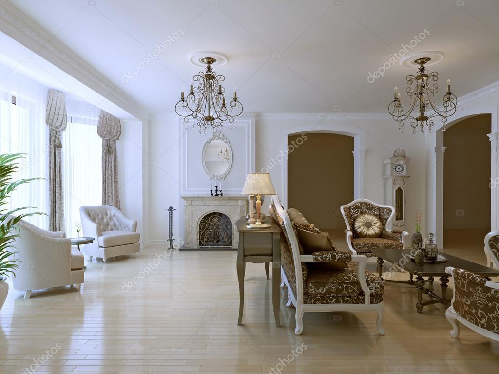Hellen klassischen Lounge Zimmer trend — Stockfoto © kuprin33 #87650108