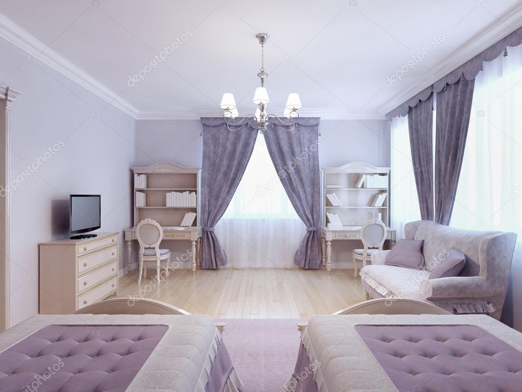 Camera da letto per due bambini foto stock kuprin33 87650110 - Camera per ragazze ...