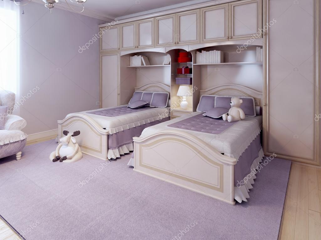 Ontwerp van de slaapkamer van de art deco u stockfoto kuprin
