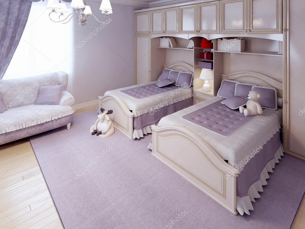 Tendenza di bambini classico camera da letto — Foto Stock © kuprin33 ...