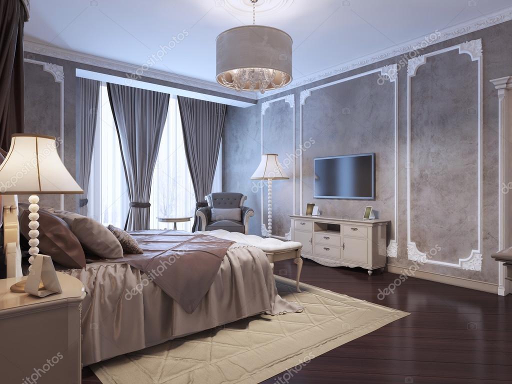 Stile classico camera da letto di ospiti foto stock - Camera da letto stile classico ...