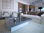 Fotografie Obývací pokoj studio v neoklasicistním stylu
