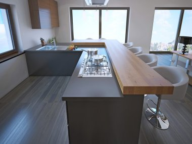 Avant-garde kitchen island bar