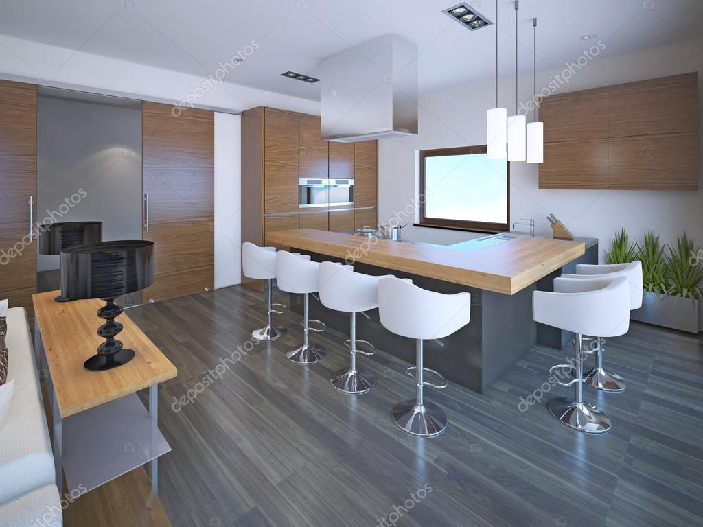 Luce a forma di L cucina design — Foto Stock © kuprin33 #89187928
