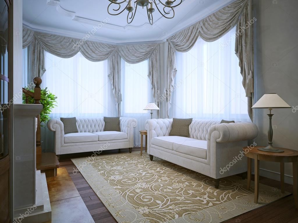 Moderne lounge kamer met klassieke meubels — Stockfoto © kuprin33 ...