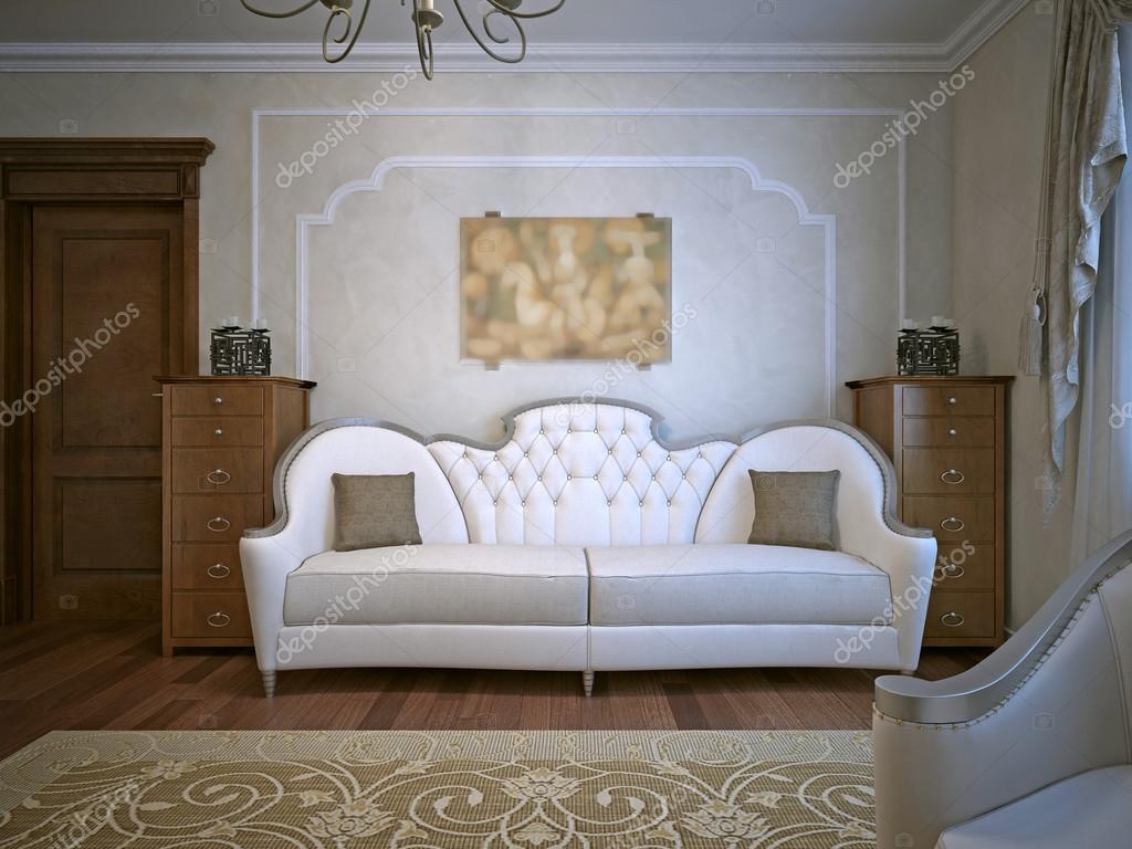Eiken Woonkamer Meubelen : Woonkamer met eiken meubelen u stockfoto kuprin
