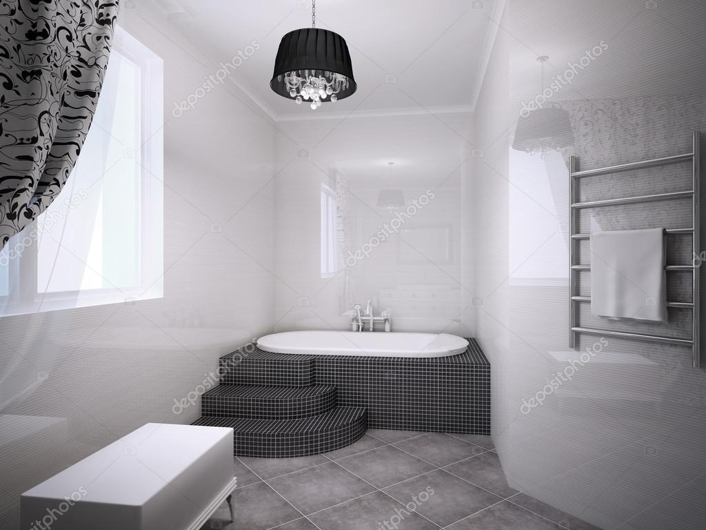 Beautiful bathroom with jacuzzi — Stock Photo © kuprin33 #94655746