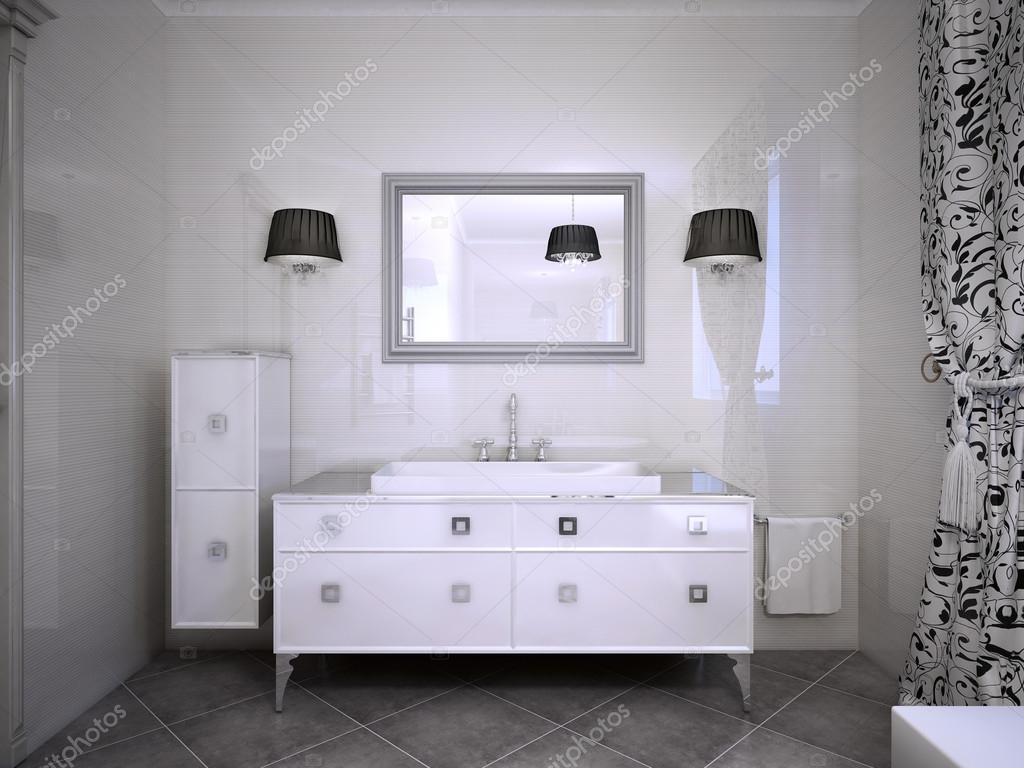 Bianco lucido mobili bagno u foto stock kuprin