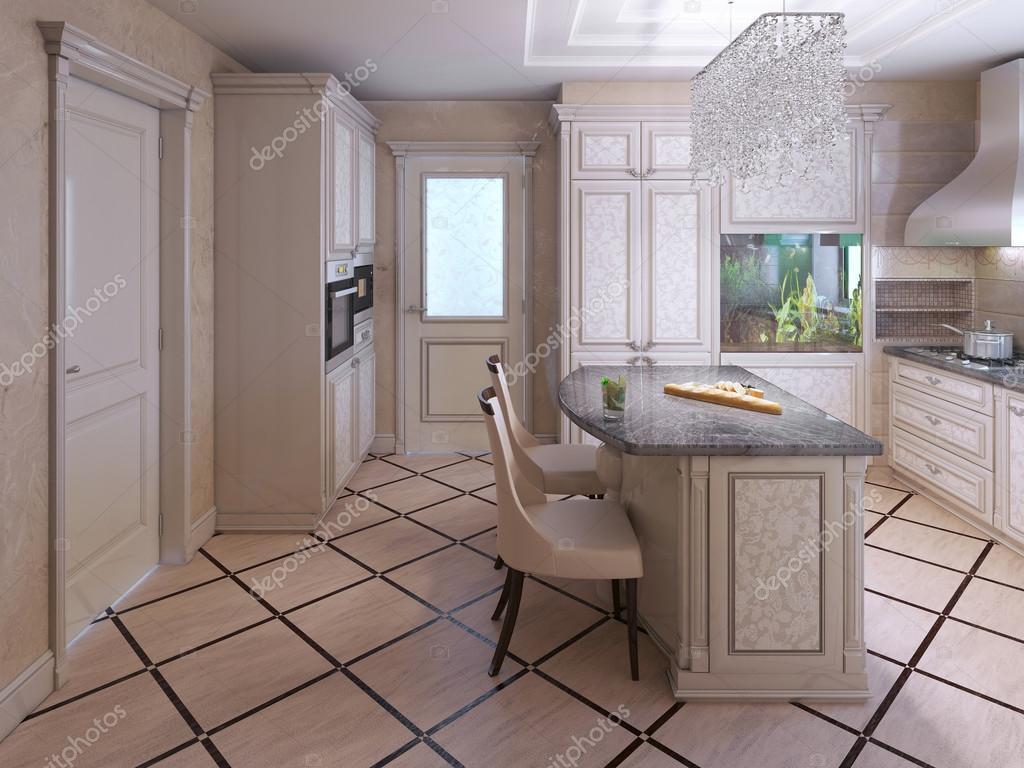 Decora O De Azulejos Na Cozinha Moderna Stock Photo Kuprin33