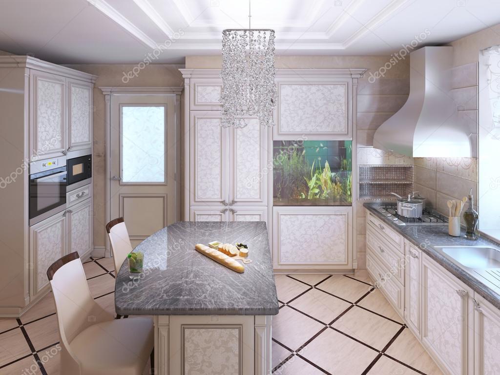 Art deco keuken met beschilderde meubels u2014 stockfoto © kuprin33