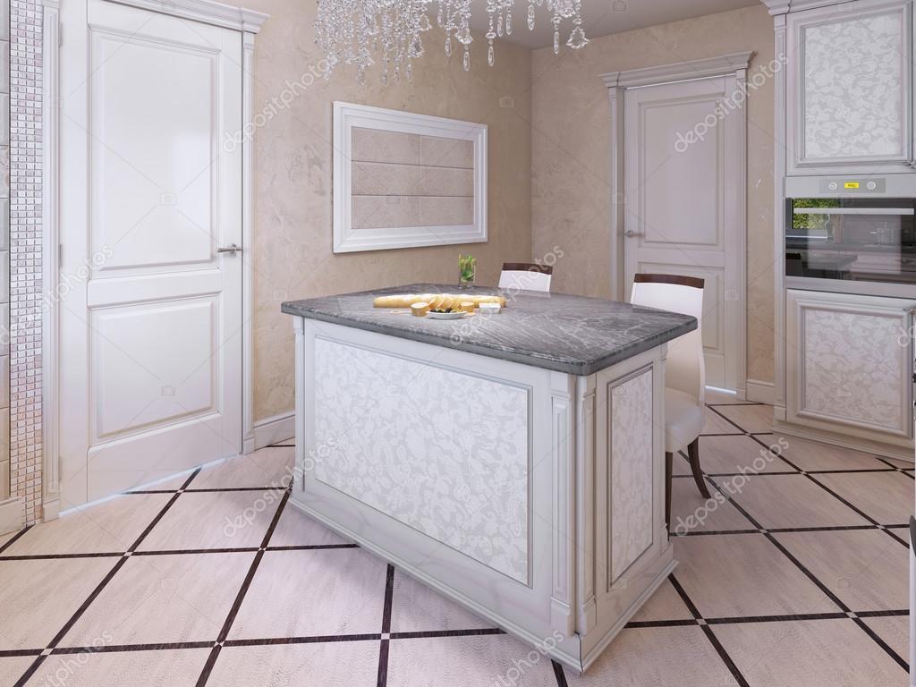 Idea de cocina de vanguardia en colores crema — Fotos de Stock ...
