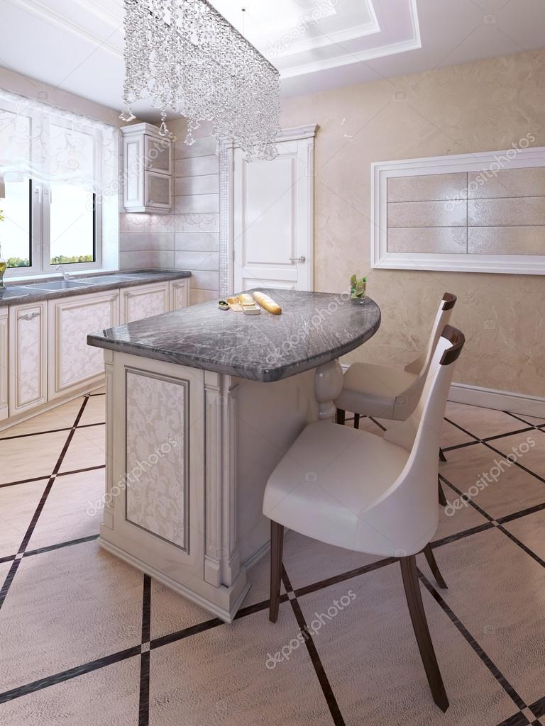 Bar-Stühle von Art-Deco-Kücheninsel — Stockfoto © kuprin33 #94666336