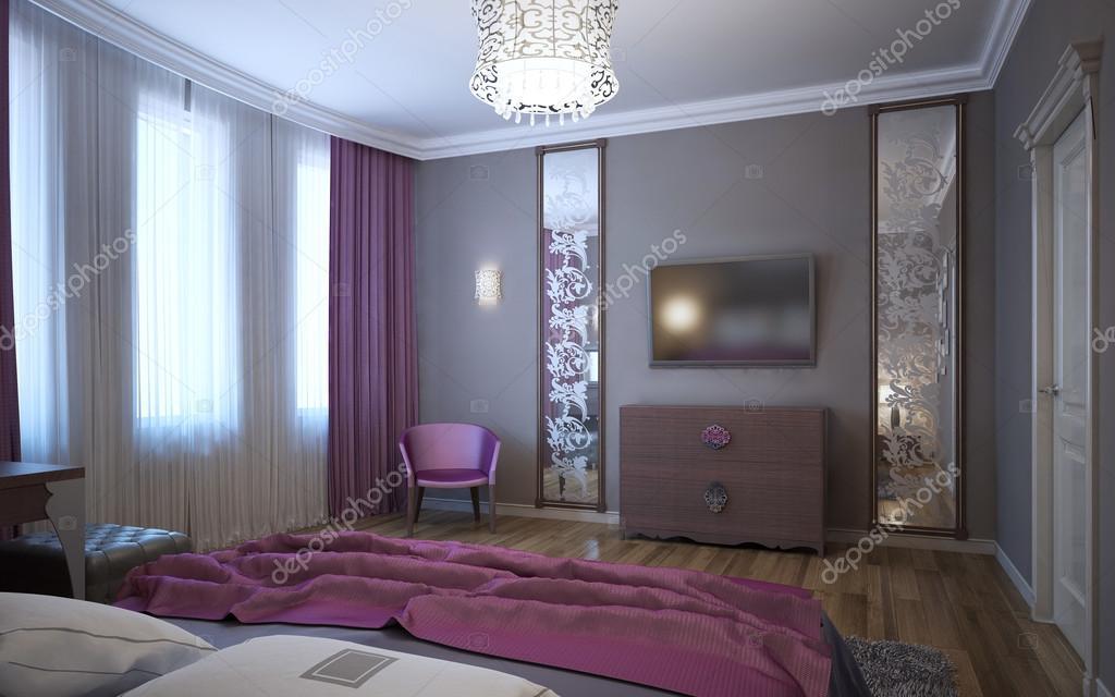 Camere Da Letto Giovani : Idea della camera da letto per i giovani u foto stock kuprin