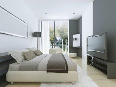 Beautiful view of nice cozy bedroom