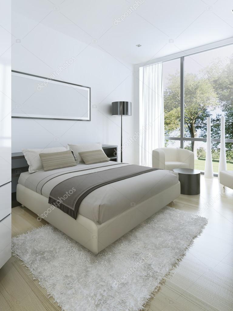 Minimalist style in interior of bedroom — Stock Photo © kuprin33 ...