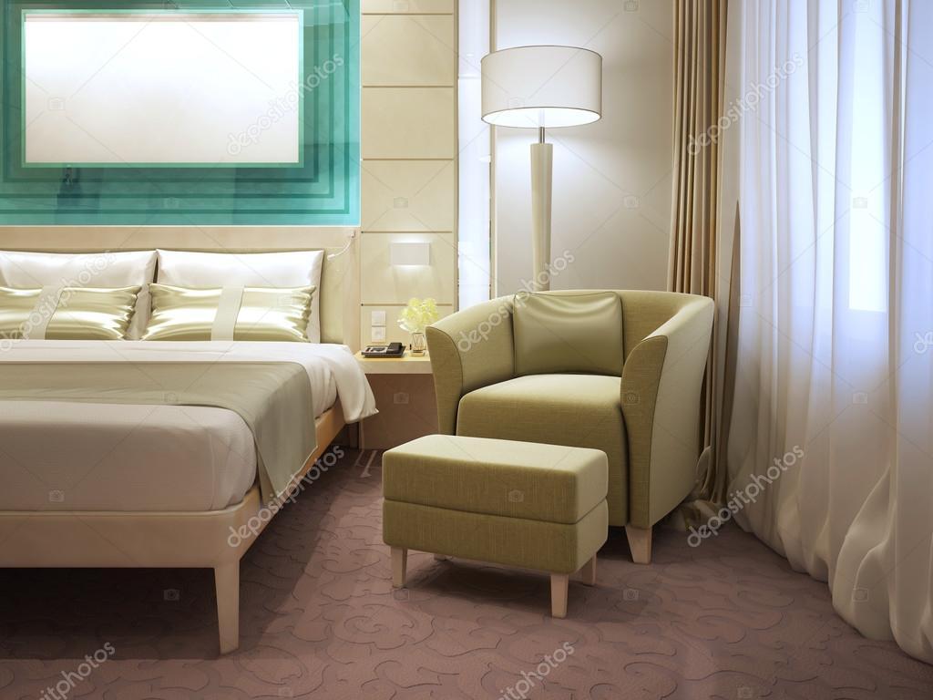 Sillón con reposapiés moderno hotel — Foto de stock © kuprin33 #95342948