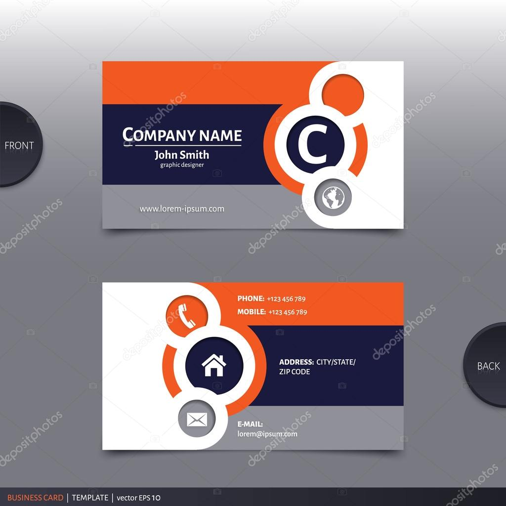 Carto de visita criativo abstrata vector vetores de stock business card template modern abstract design vector vetor de nikolamirejovska reheart Gallery