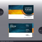 Absztrakt kreatív névjegykártya. Vektor