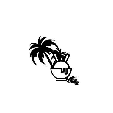 Ice Cream Logo Design end elements for ice cream shop. Vector illustration icon