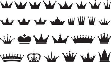 Simple black crowns