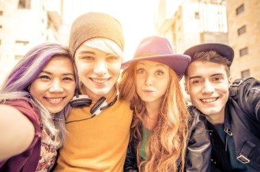 Teens portrait in an urban area