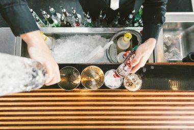 Barman at work
