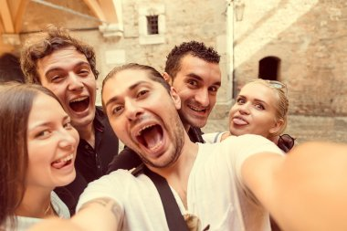 Selfie with friends in Milan