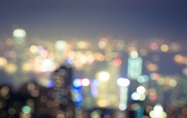 Blurred city