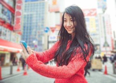 Selfie in tokyo