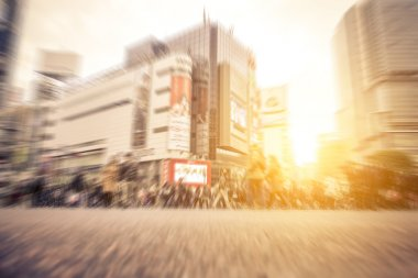 shibuya district, Tokyo. People walking on the street
